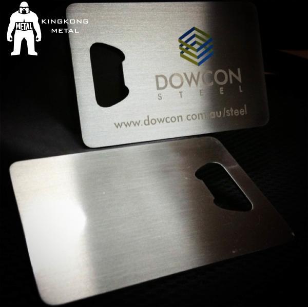 Cheap Metal Beer Bottle Opener Business Card ,  Poker Card Bottle Opener  Promotional for sale
