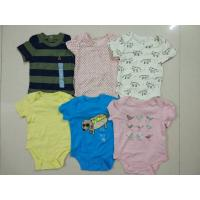 Best Malaysia baby outfits Cheap brand clothes stock Gap infant cotton short sleeve pattern rompers cute bodysuits jumpsuits wholesale
