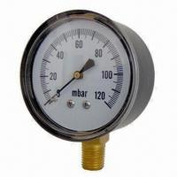 China Low Pressure Gauge with Brass or SS Socket on sale