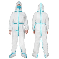China Waterproof SSF Polypropylene Disposable Medical Coverall on sale