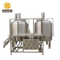 2 Vessels 304 / 316 Micro Beer Brewing Equipment Particle Adjustable Rolling Crusher
