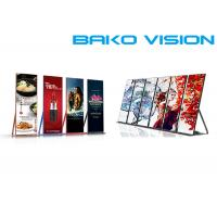 China Slim / Lightweight Front Service LED Display Standing Poster LED Screen 1000 Nits on sale