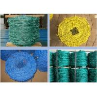 Best Livestock Green PVC Coated Barbed Wire Fence With Great Rust Resistance wholesale