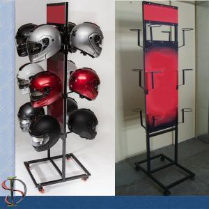 Best Motorcycle Helmets Brand Metal Display Rack with graphic wholesale