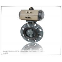 Best General DN50 PVC Pneumatic Butterfly Valve Wafer Connection With 8 Mounting Holes wholesale