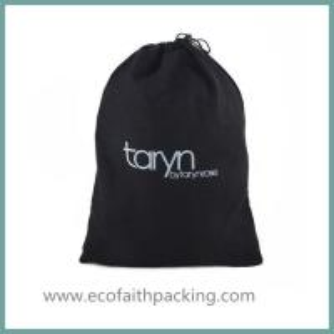 Best black velvet shoes dust bag with your logo printing wholesale