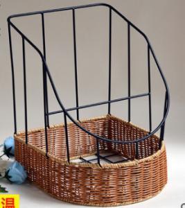 Best 2016 Hot sale Plastic Rattan Bake Basket,  bottom size 35.5X30,X20/40CM wholesale
