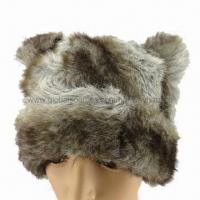 Cheap Fashionable Fake Fun Winter Hats with Animal Shape and Polyfil Lining for sale
