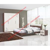 Best Budget Hotel furniture in modern deisgn by panel bed and doors wardrobe in high glossy wholesale