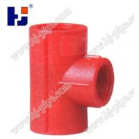 China Plastic pipe fittings PPR reducing tee on sale