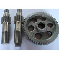 China copper, brass, bronze gear shaft for machine, machinery parts customized small module pinion spur gear shaft on sale