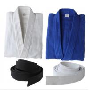 China 100% Cotton martial arts clothes white bjj gi Kimono judo uniforms Wholesale Bamboo cotton judo Uniforms on sale