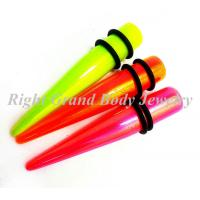 Best Green,Pink AB Coating Ear Stretchers Tapers , UV Acrylic Body Jewelry wholesale