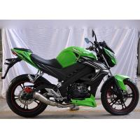 China High Speed Motorcycle Racing Bike Classic Green Color Electric / Kick Start on sale