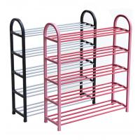 Best H275 Metal And PP Plastic Space Saving Shoe RackWith Molded Plastic Support Frames wholesale