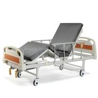 China Full Size Hospital Bed Medical Equipment Beds Equipped With Center Brake System on sale