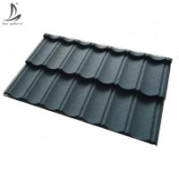 China Sierra Leone, zambia, Liberia high quality color stone coated roofing sheets, 0.4mm metal roofing sheets on sale