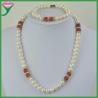 Best Beautiful Cheap sale india 8-9mm natural freshwater pearl jewelry set wholesale