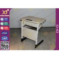 China Epoxy Powder Coated Student Desk And Chair Set , Childrens School Desk And Chair on sale