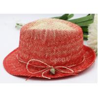 Best Red paper grass Fedora hat Korean spring and summer new sunscreen hat fashion jazz hat wholesale