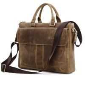 China 7054B Cowboy Vintage Leather Messenger Bag Brief Case Shoulder Bag Purse on sale