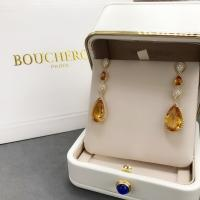 China 18K Yellow Gold Boucheron Serpent Boheme Earrings With Topaz Crystals And Diamonds on sale