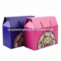 Best fruit vegetable gift color corrugated carton box with rope wholesale