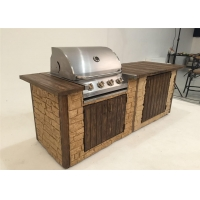 Best Factory price kitchen bbq  built in wall insert  4 burners gas bbq grill with slow burning wholesale
