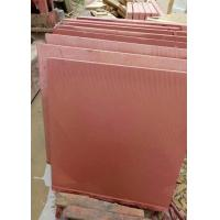 Buy cheap Red Sandstone natural sawn cut bushhammered honed tile slabs from wholesalers