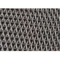 China Flat Wire Spiral Mesh Balanced Weave Belt For Building Decoration on sale