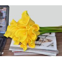 """China 14""""real touch PU artificial flowers calla lily bundles 9 pieces/bundle on sale"""