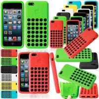 China Cell Phone Protective Cases For iPhone 5C With Soft TPU Hollow Hole Dots on sale