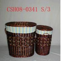China Willow Laundry Basket CSH08-0341 S/3 on sale