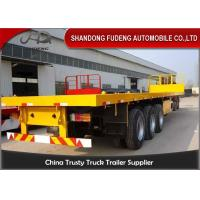 Best Light Tare Weight 20ft 40ft Container loading Flatbed Semi Trailer with steel material wholesale