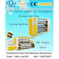 Best CE Corrugated Paper Carton Making Machine A B Flute Profiles 50Hz 380V  Three Phase wholesale
