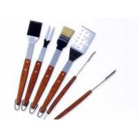 Best 5 pcs Rosewood Handle BBQ Tool Set wholesale