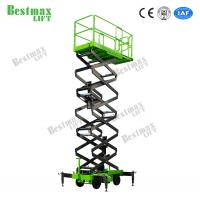 China 500Kg Hydraulic Lift Platform Scissor Lift For Working At Height 12 Meters Man Lift on sale