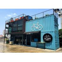 China Blue Color Commercial Metal Building Kits Flexible Assembly For Coffee Shop / Cafe on sale
