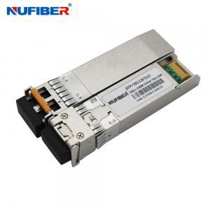 Best Duplex LC 10G SFP+ Transceiver Hot Pluggable 80km 1590nm 1610nm wholesale