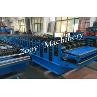 Best Galvanzied Steel Metal Deck Roll Forming Machine With 5 Tons Decoiler wholesale