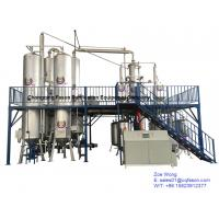 China continuous running waste oil distillation equipments, black car oil purifier on sale