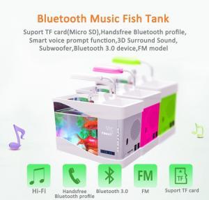 China Fascinations LED Aquarium Handsfree Wireless Bluetooth Stereo Speaker on sale
