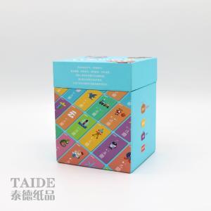 Best 280gsm 310gsm Paper Educational Flash Cards Black Blue Core wholesale