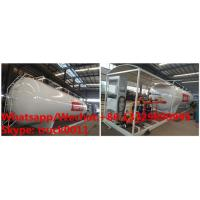 Best customized 10tons skid lpg gas station with lpg gas dispenser of 2 filling nozzles for sale, skid lpg tank for sale wholesale