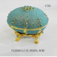 Best Fashion Metal Alloy Rhinestone faberge egg jewelry box wholesale