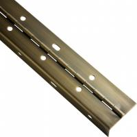 Best Brass Plated Continuous Piano Hinge Partial Wrap Slotted For Bending Metal Door wholesale