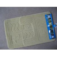 China Custom modern non-skid yellow Microfiber Bath Mat / bathroom rugs OBM-003 on sale