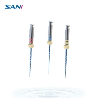 ISO Flexible 3pcs/Pack Endodontic Niti Files For Root Canal Treatment