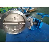 Best High Temp Wafer Lug Type Modulating Butterfly Valve Worm Gear Stainless Steel wholesale