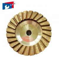 Best 4 inch Cyclone Shape Diamond Cup Wheel with Wet Grinding for Concrete Floor wholesale